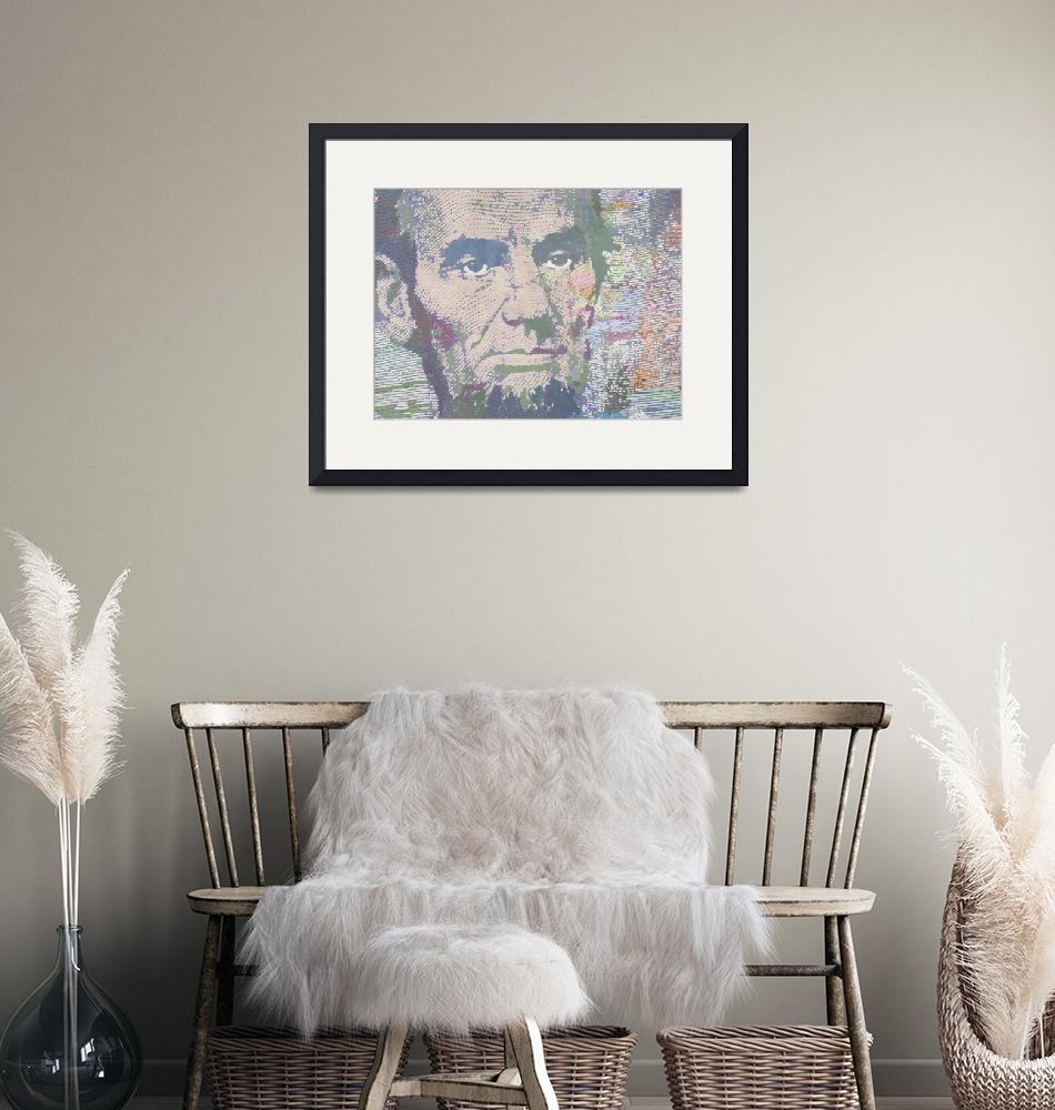 """Lincoln Reimagined Horizontal""  (2014) by RubinoFineArt"