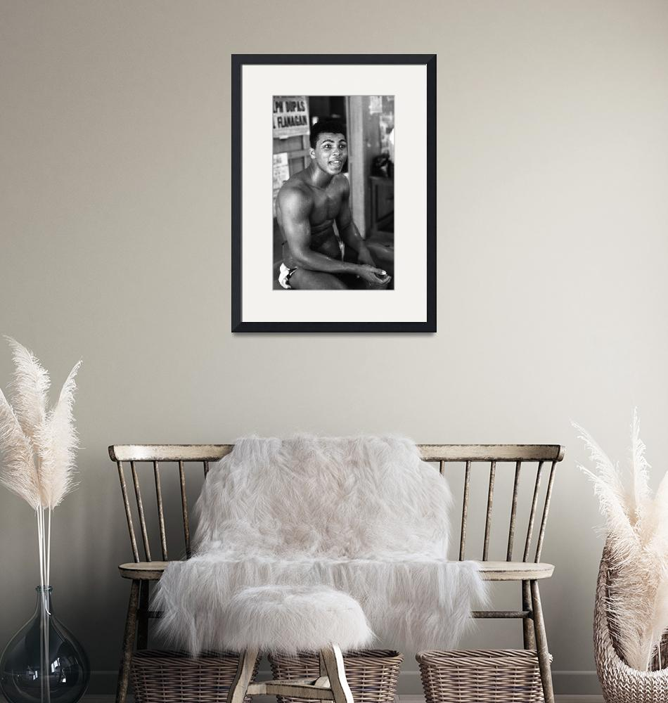 """""""Muhammad Ali sitting and talking""""  by RetroImagesArchive"""