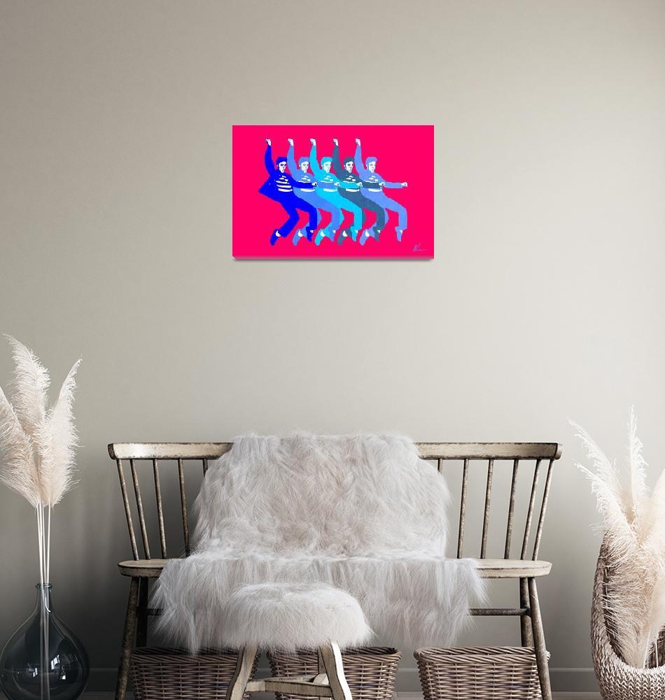 """Blue Elvis | Pop Art""  (2020) by wcsmack"