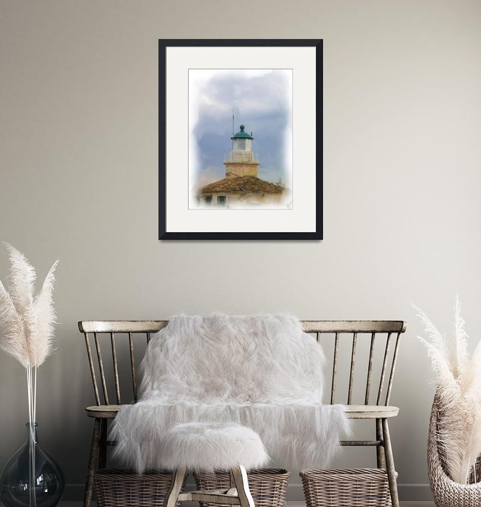 """Corfu old lighthouse""  (2010) by clickinart"