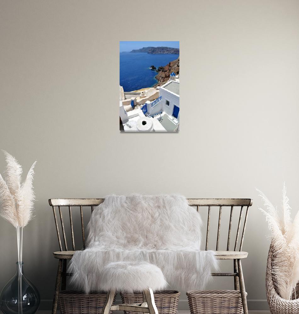 """Santorini Island, Greece.""  (2009) by FernandoBarozza"