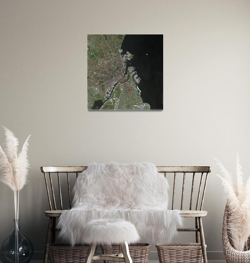 """Copenhague (Denmark) : Satellite Image""  (2006) by astriumgeo"
