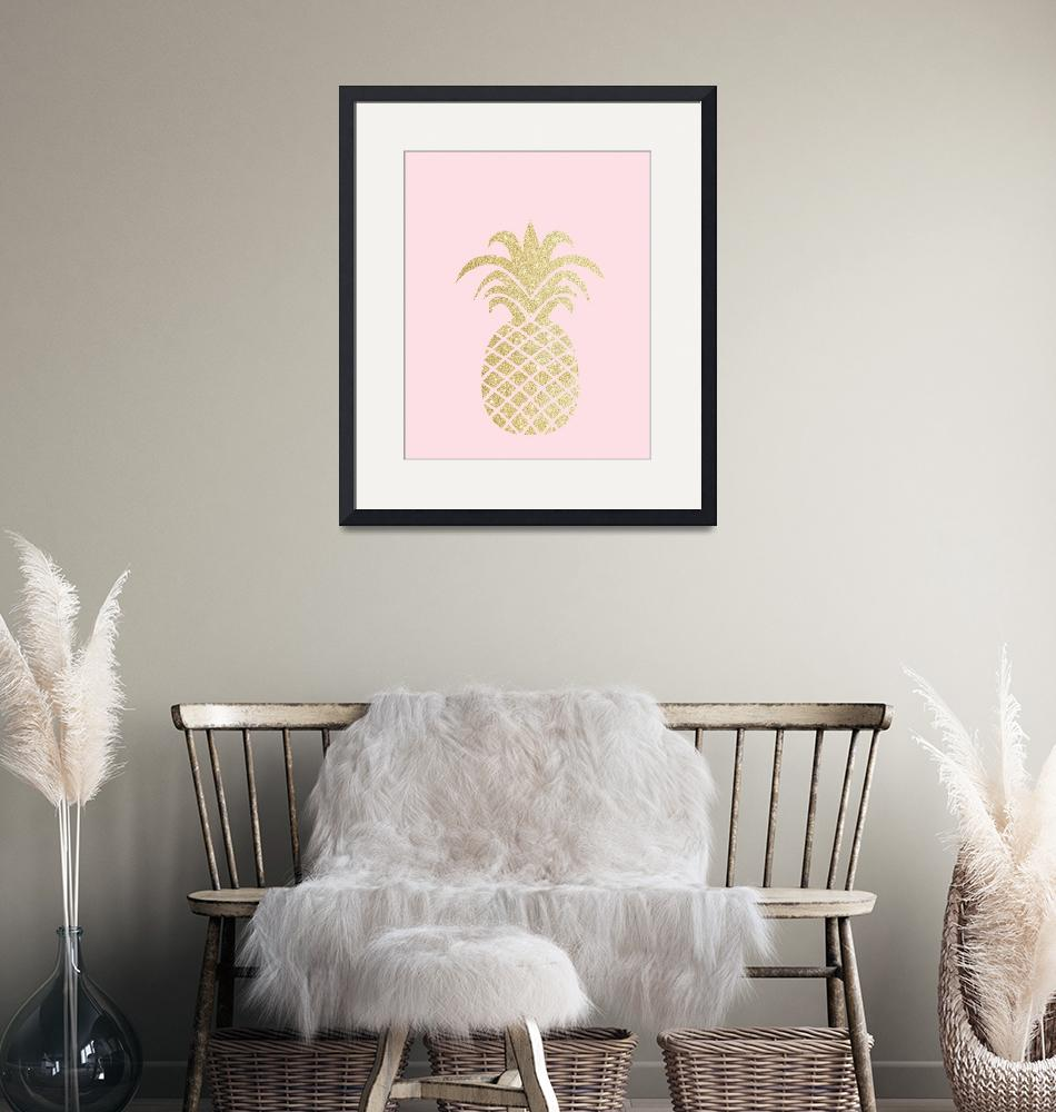 """Gold Pineapple Pink""  by miscstudios"