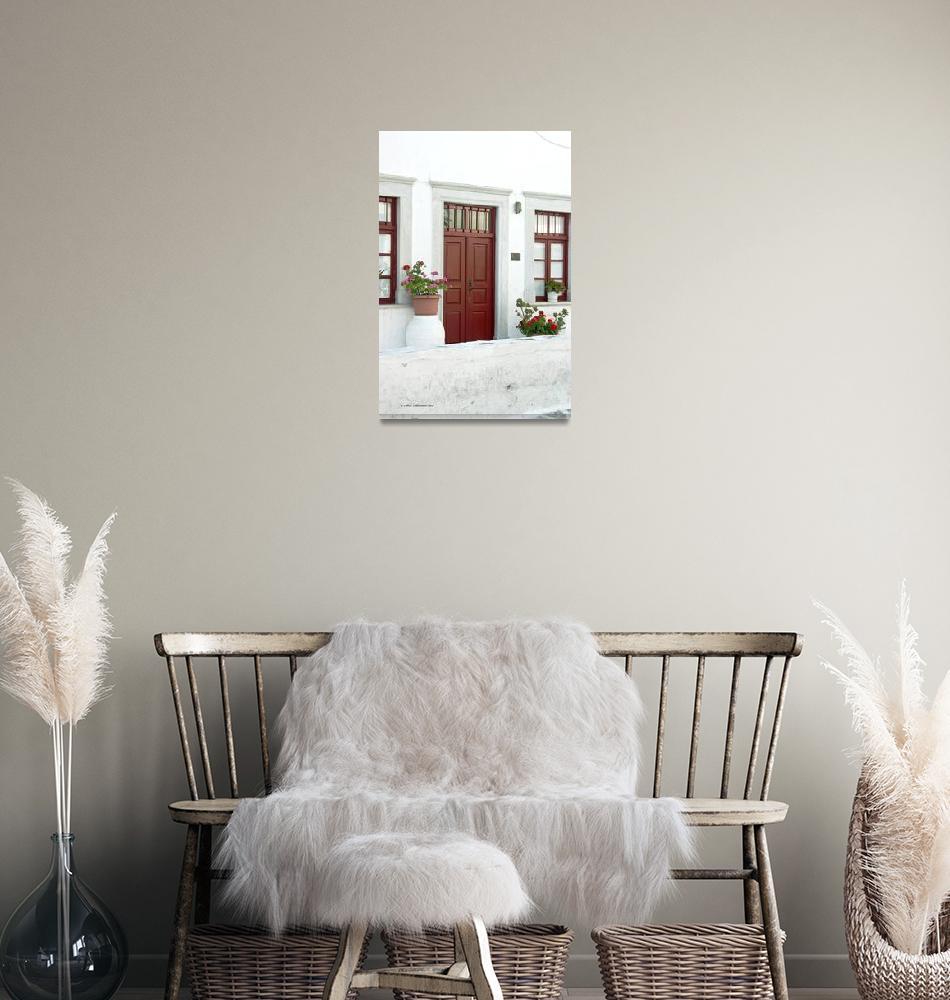 """Mykonos Red Door and Windows""  (2007) by SamSherman"