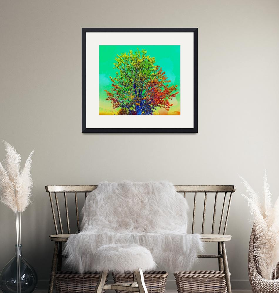 """tree 2 colorful2""  by lizmix"