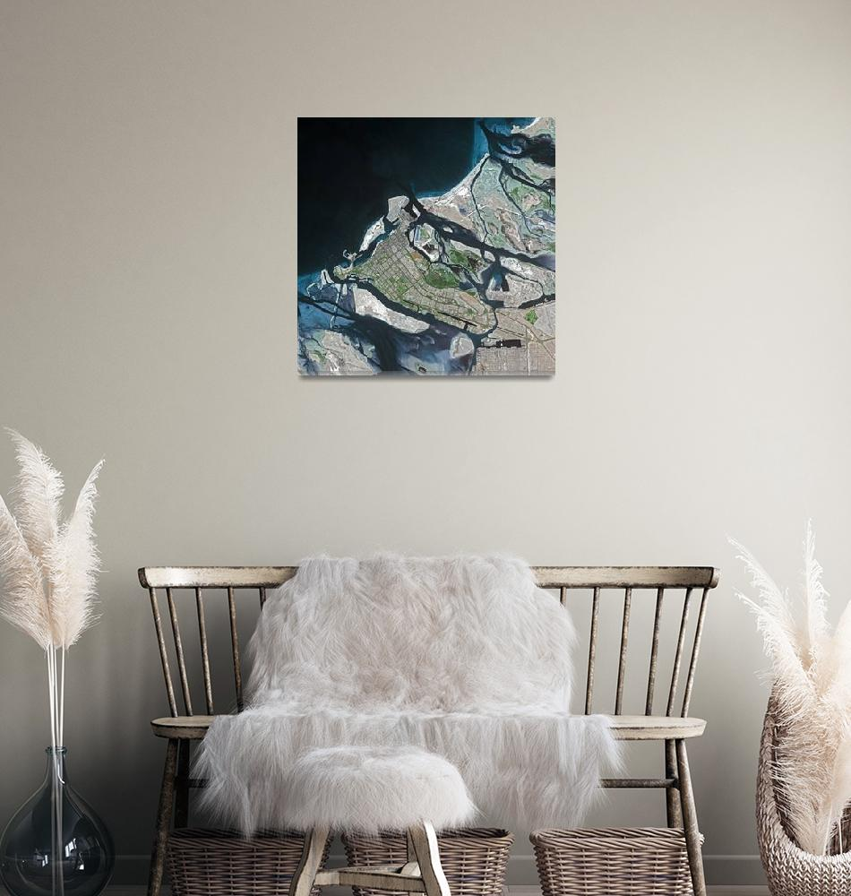 """Quebec (Canada) : Satellite Image""  (2002) by astriumgeo"