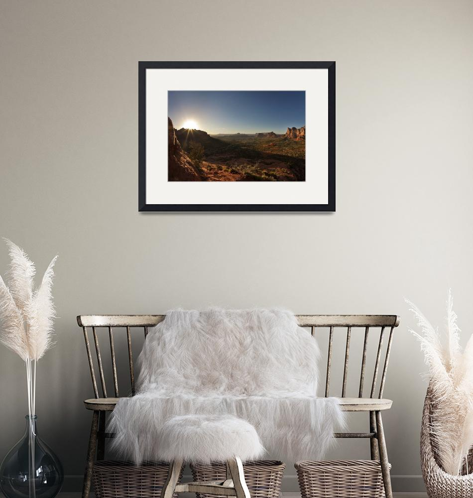 """Bell Rock View, Sedona Arizona""  (2012) by PrintsThatInspire"