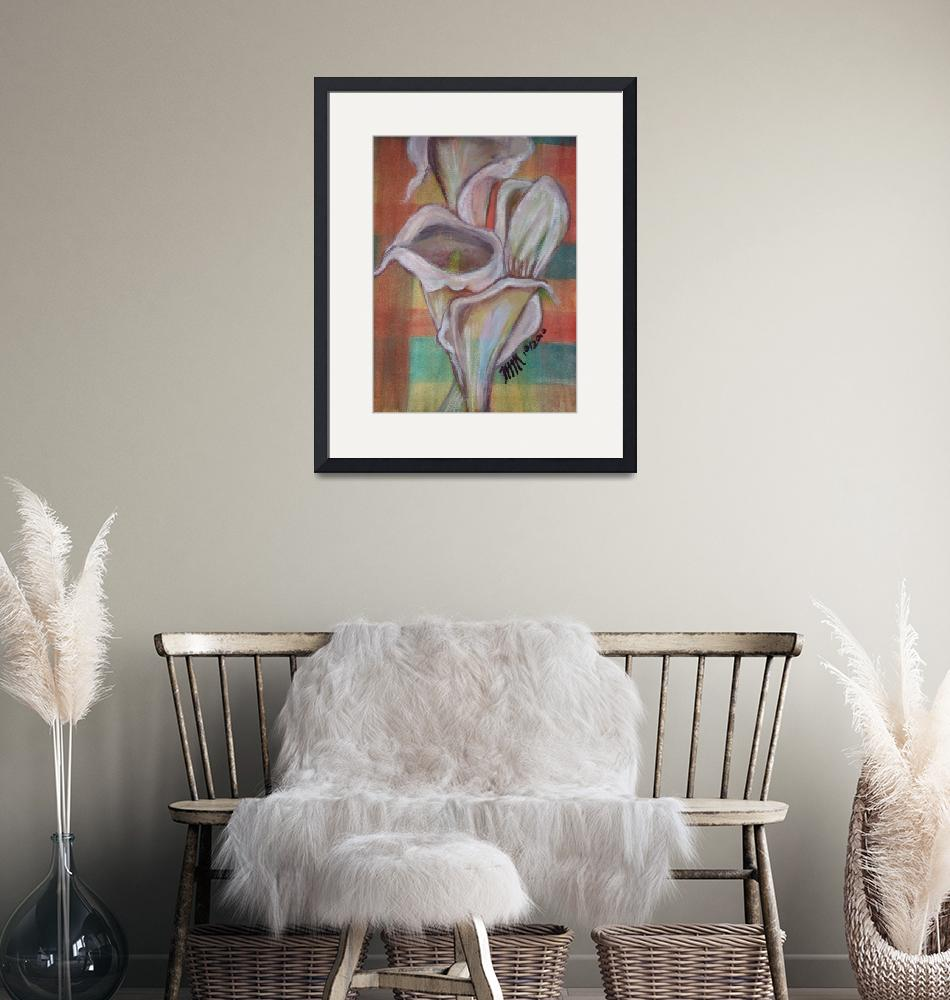 """Calla Lilies in Watercolor""  (2010) by Crafloft Studio"