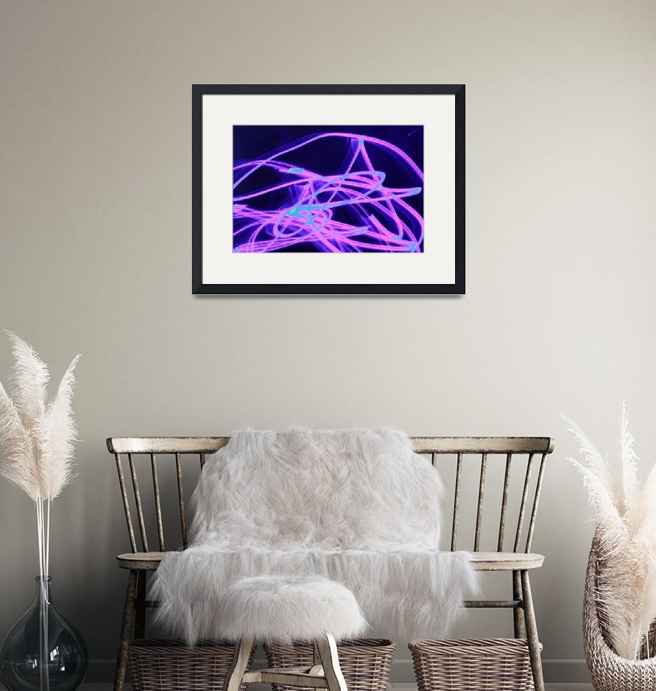 """""""Glowing blue and purple streaks""""  (2012) by MikeMBurkeDesigns"""