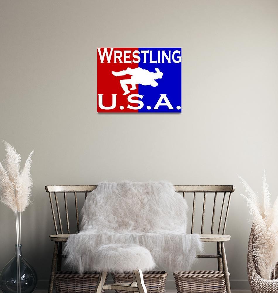 """U.S.A. Wrestling logo""  (2011) by Euvari"