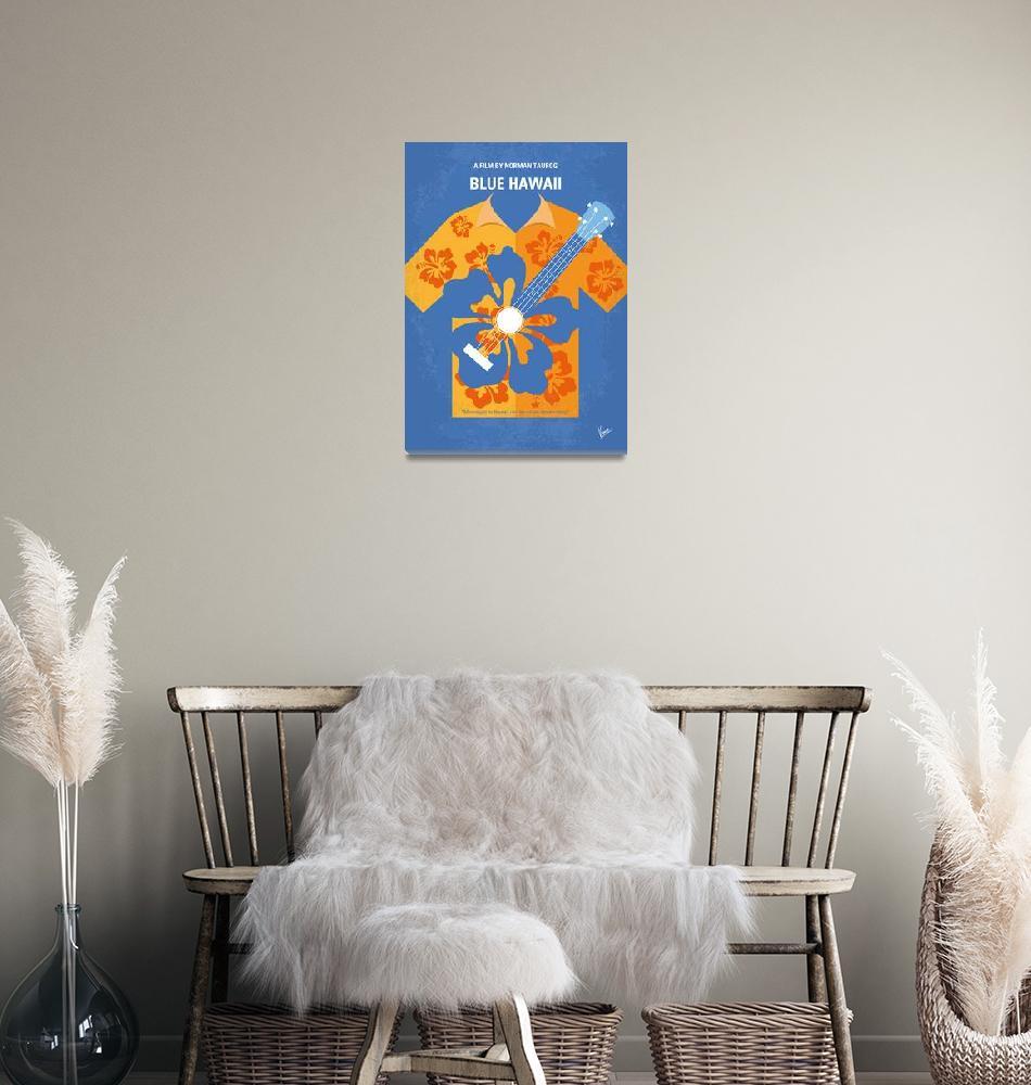 """""""No1204 My Blue Hawaii minimal movie poster""""  by Chungkong"""
