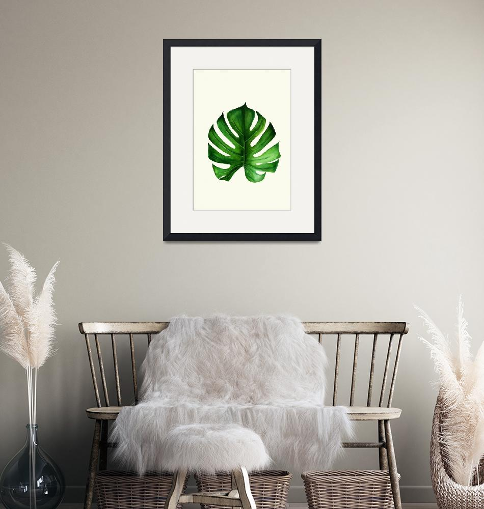 """""""Monstera leaf II""""  (2018) by DreamyFaces"""
