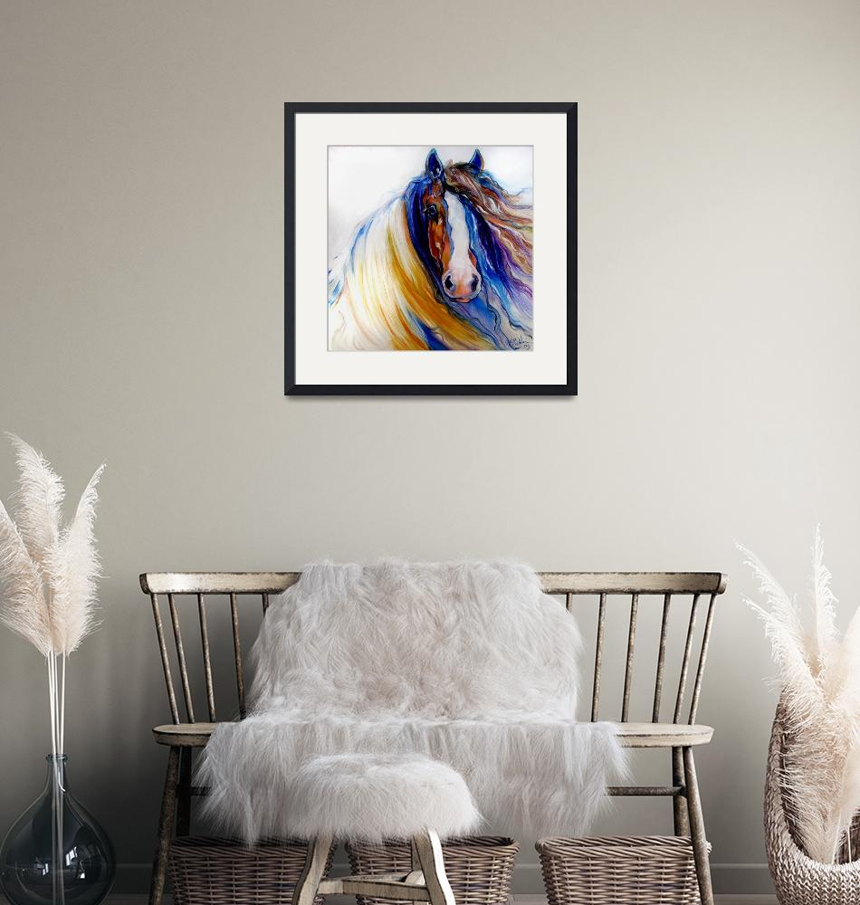 """""""GYPSY VANNER ROGUE""""  (2009) by MBaldwinFineArt2006"""