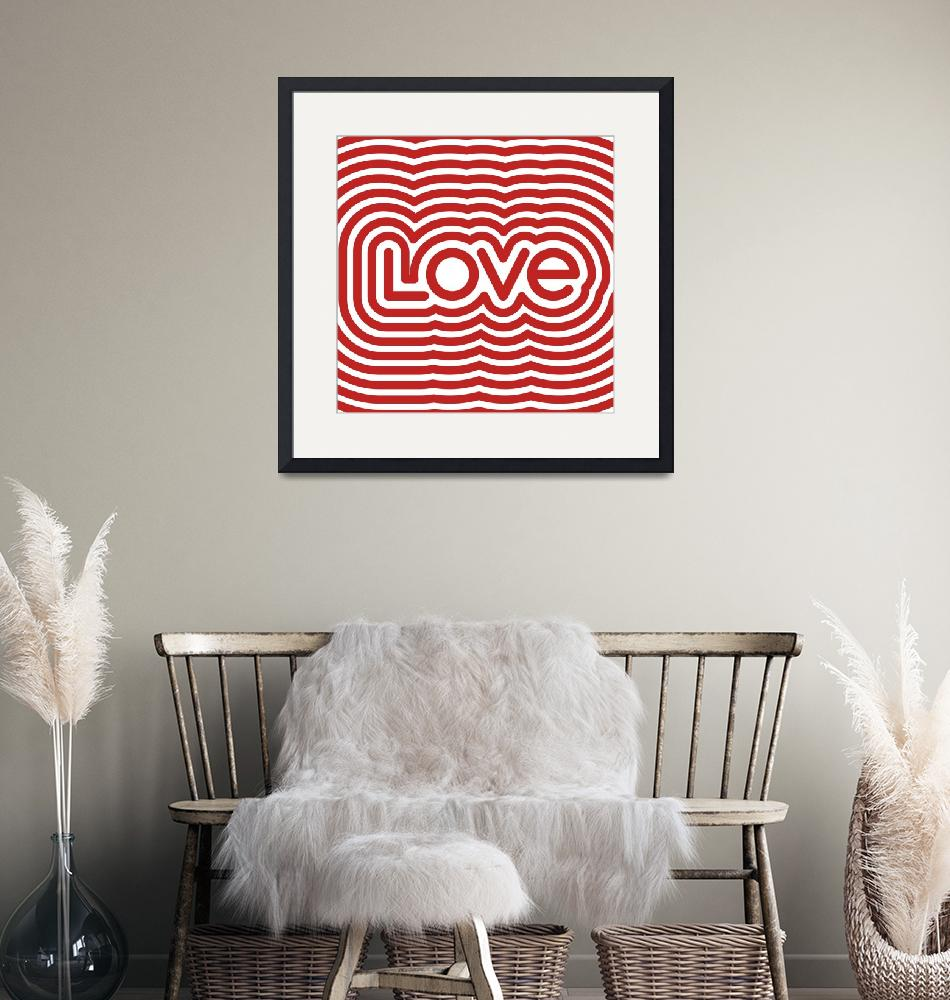 """""""Love Poster Square""""  (2012) by jvorzimmer"""