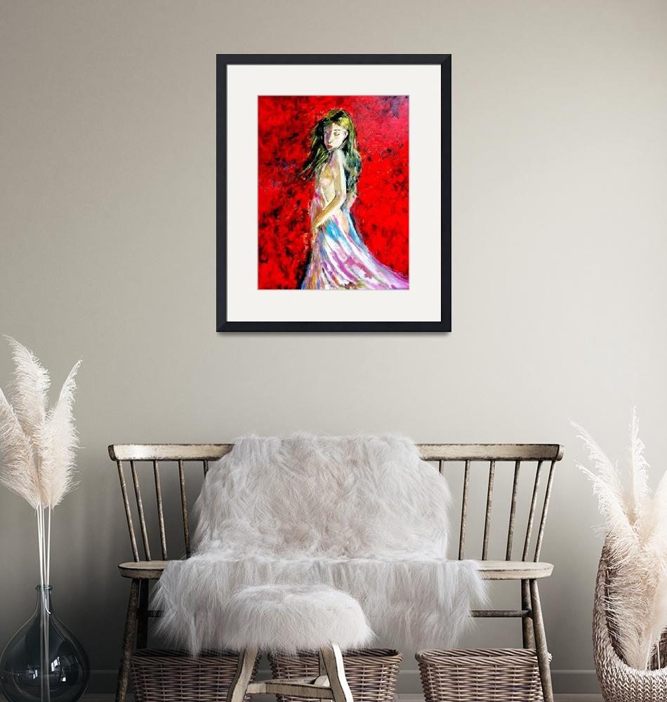 """Temptation-The Lady in Red""  (2014) by cneartgallery"