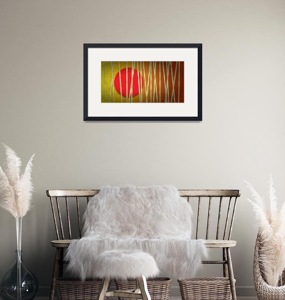 """""""Gold Bamboo - Long""""  (2011) by Art_By_Design_Studio"""