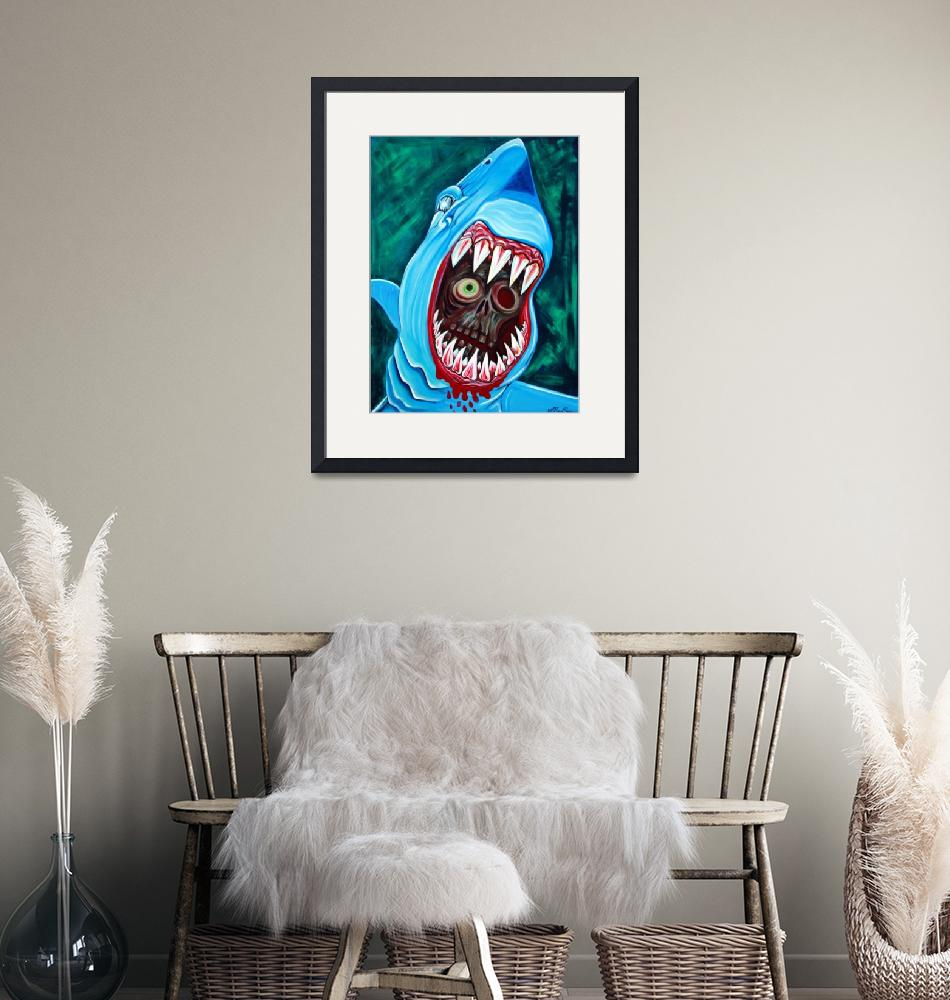 """Great White Gobstopper""  (2012) by ArtPrints"