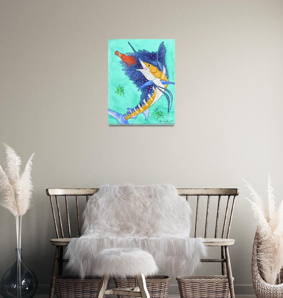 """""""Sailfish With Spots""""  (2009) by FGerety"""