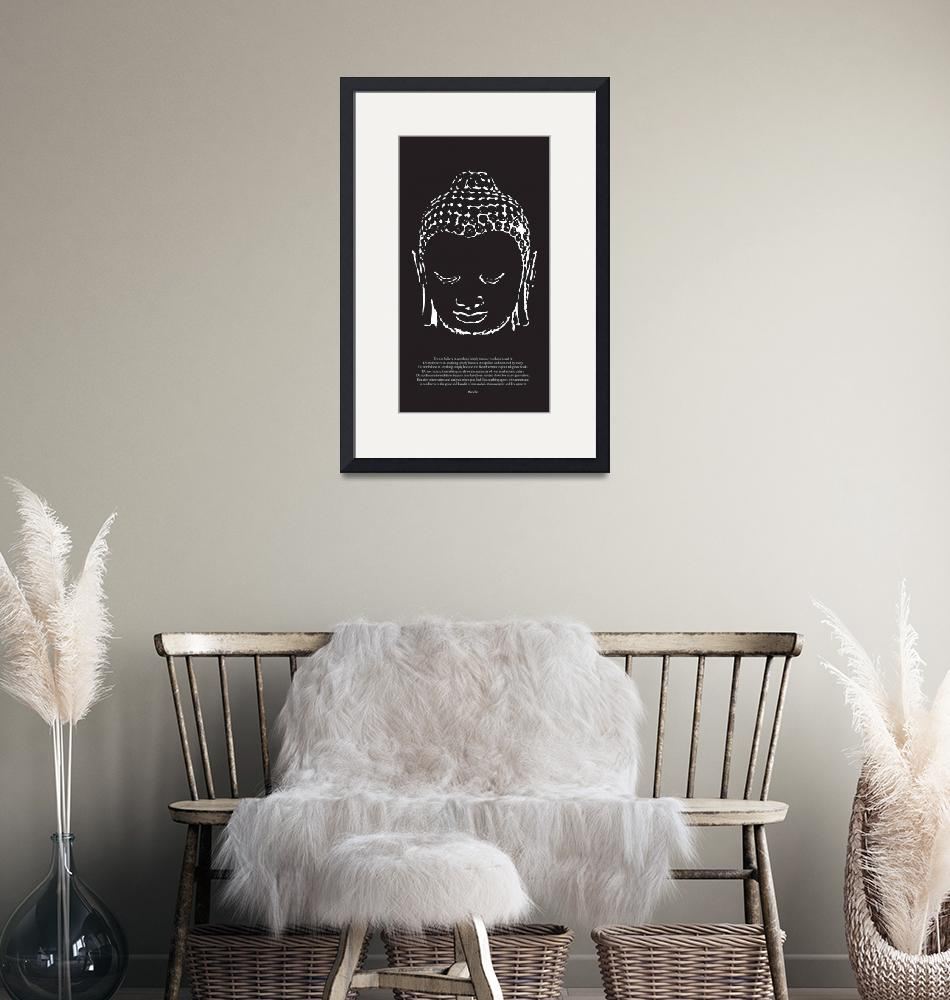 """""""Buddha in Black and White""""  (2009) by diguiseppi"""