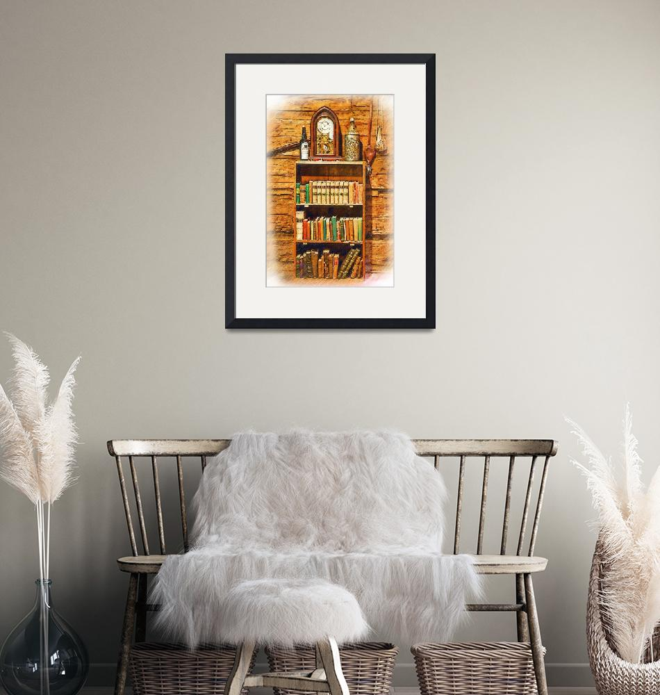 """""""Log Cabin Bookcase Sketched""""  (2016) by Kirtdtisdale"""
