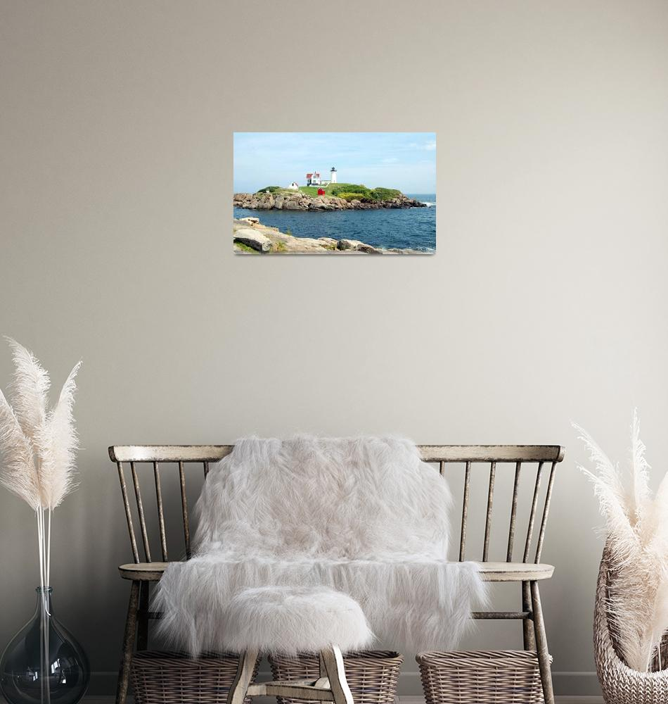 """Nubble Light Maine""  (2009) by jkphotos"