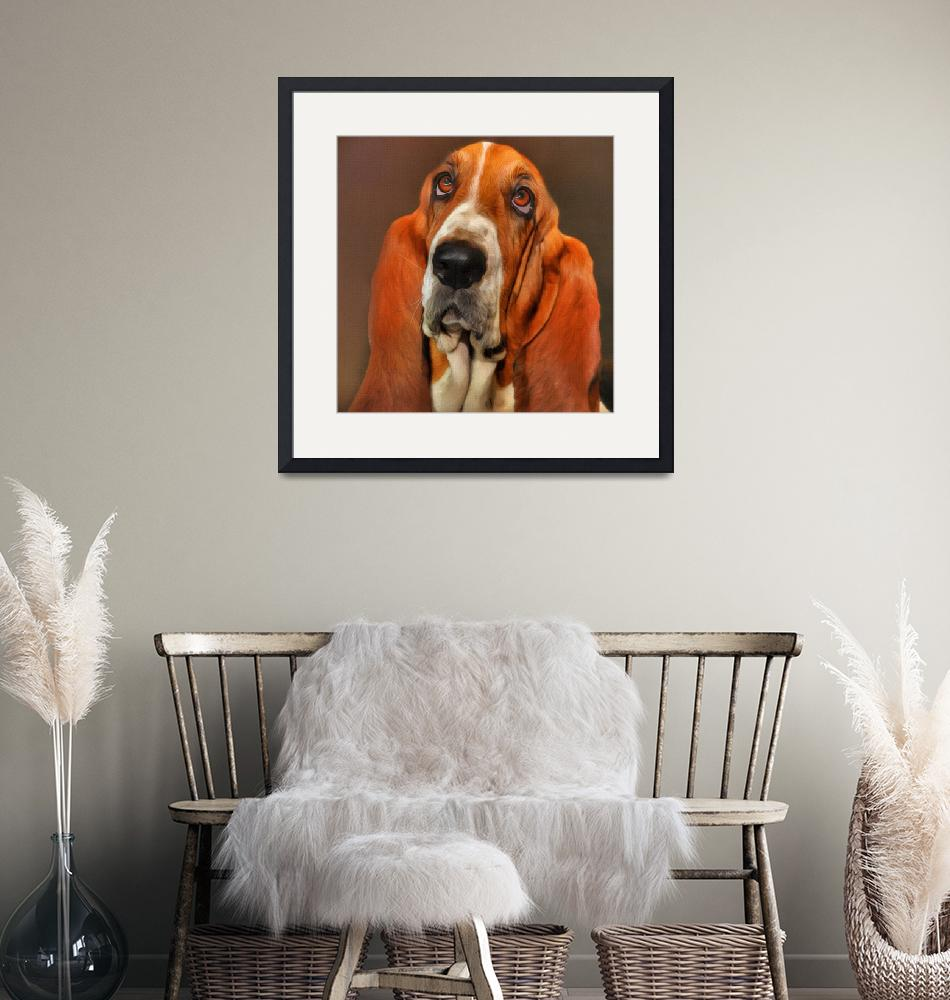 """Basset dog portrait""  (2018) by vincent68"