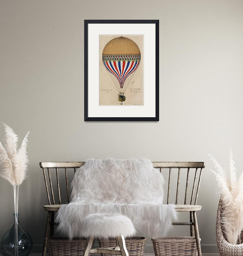"""""""The Tricolor Balloon with French Flag""""  by FineArtClassics"""