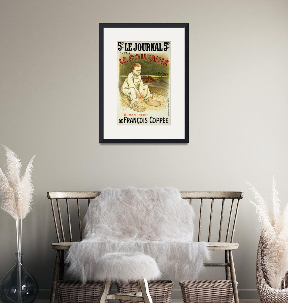 """""""Reproduction of a poster advertising the novel Le""""  by fineartmasters"""