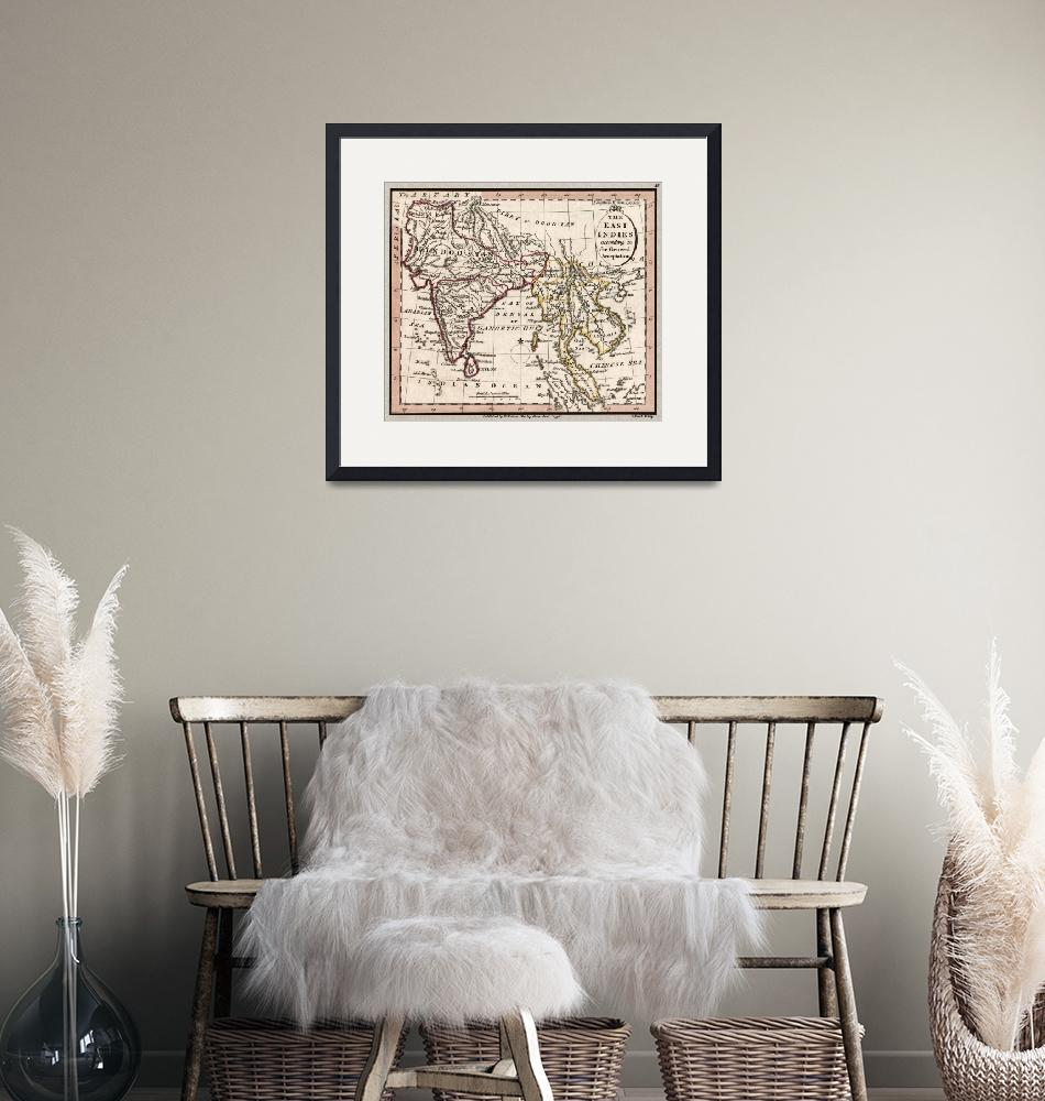 """""""Indian Subcontinent Antique Map 1798""""  (2020) by WilshireImages"""