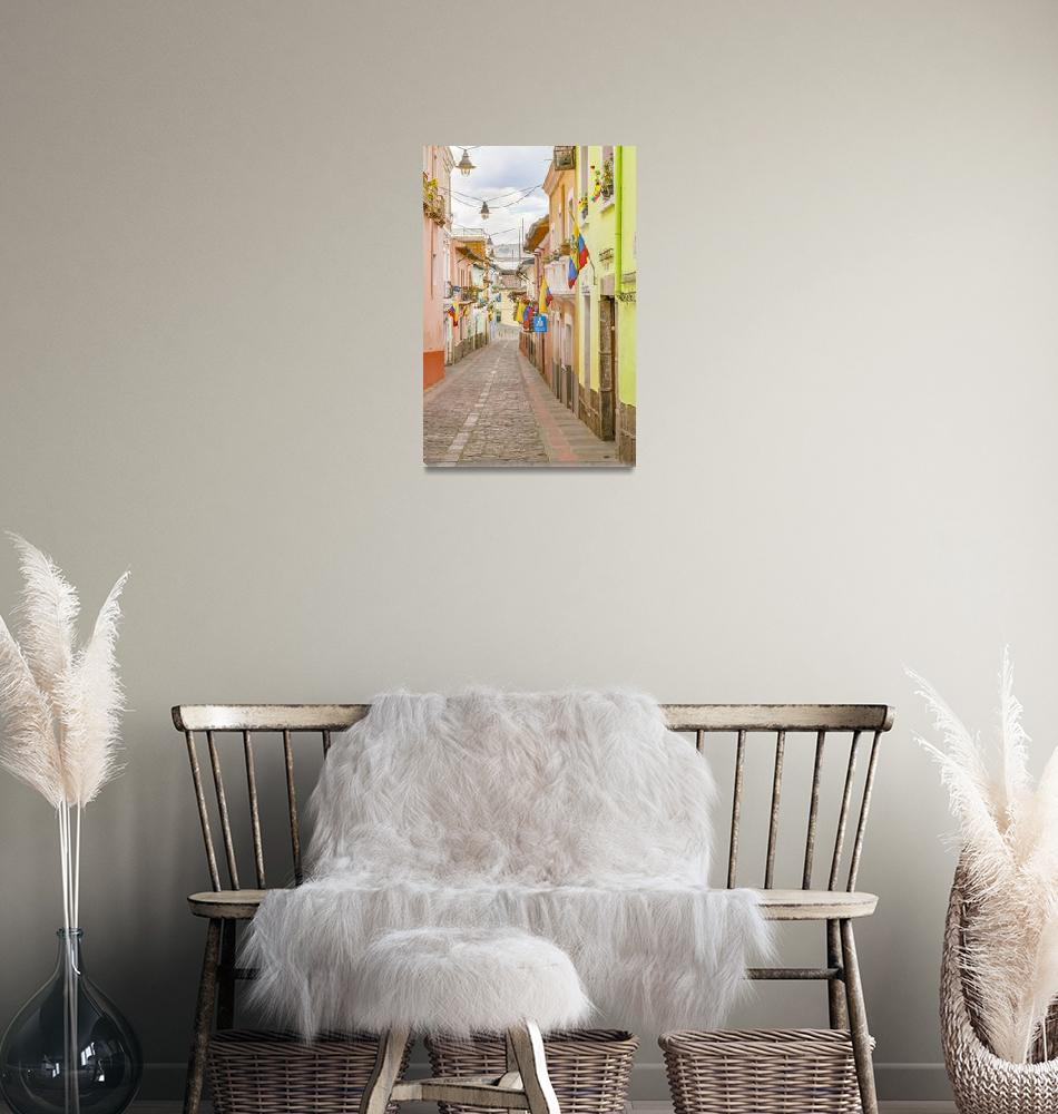 """La Ronda Street Quito Ecuador""  (2015) by danfleitesart"