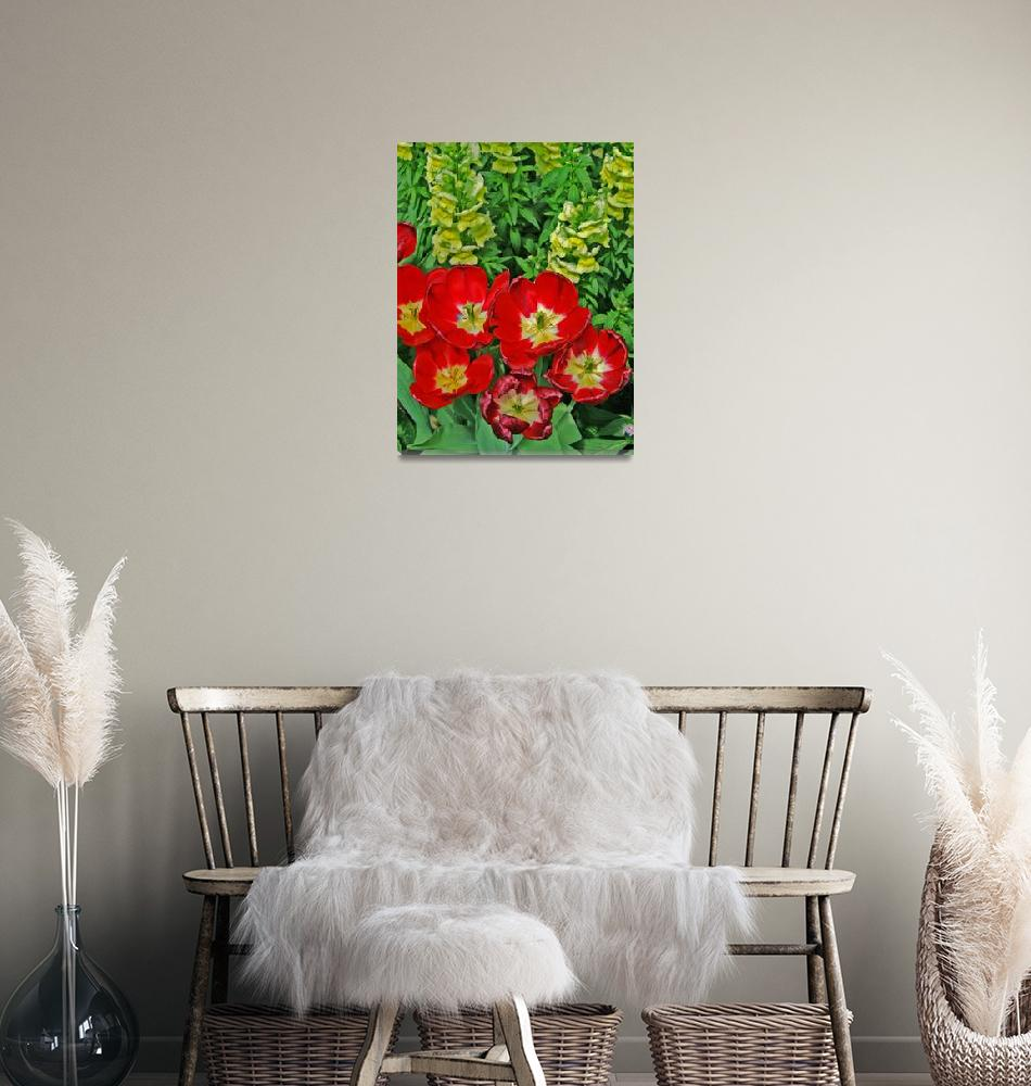 """""""Red Flowers Fake HDR 8X10""""  (2008) by brianyoung81"""