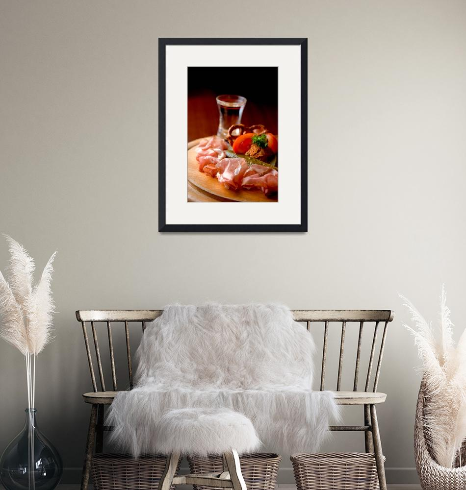 """""""Smoked ham and a glass of schnapps""""  (2007) by ekmai"""