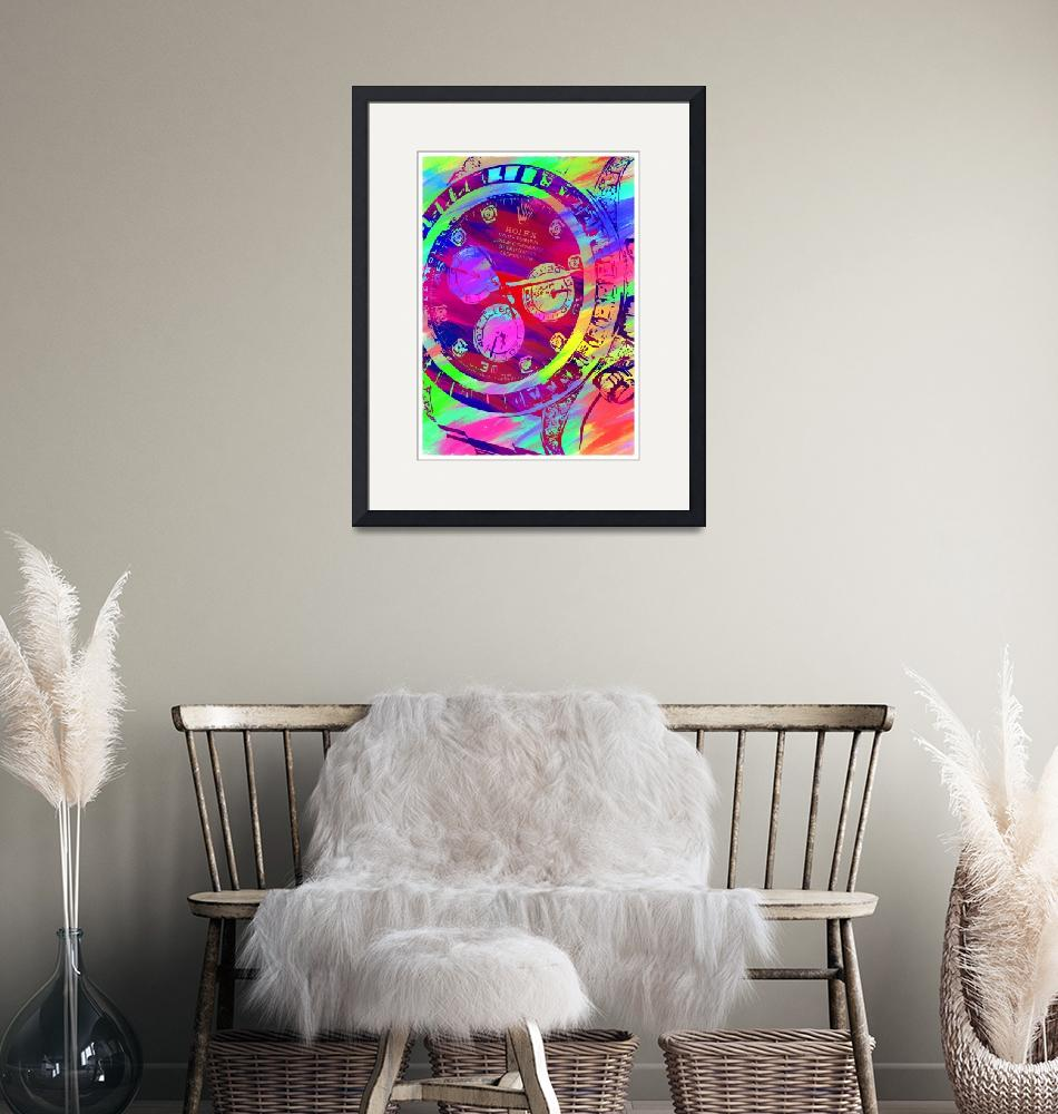 """""""Abstract Rolex Paint 9""""  by palmsrick"""