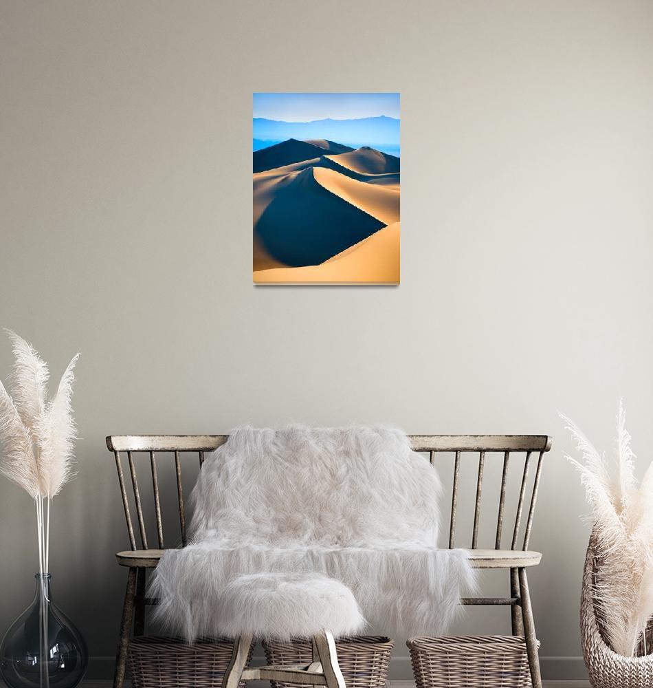 """""""Desert landcape, sand dunes over blue sky""""  by kalishko"""
