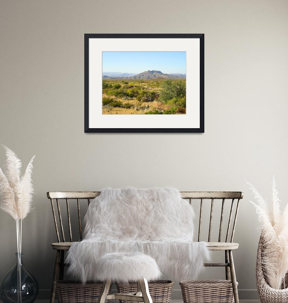 """""""Trans-Pecos Mountains, Texas""""  (2003) by happysights"""