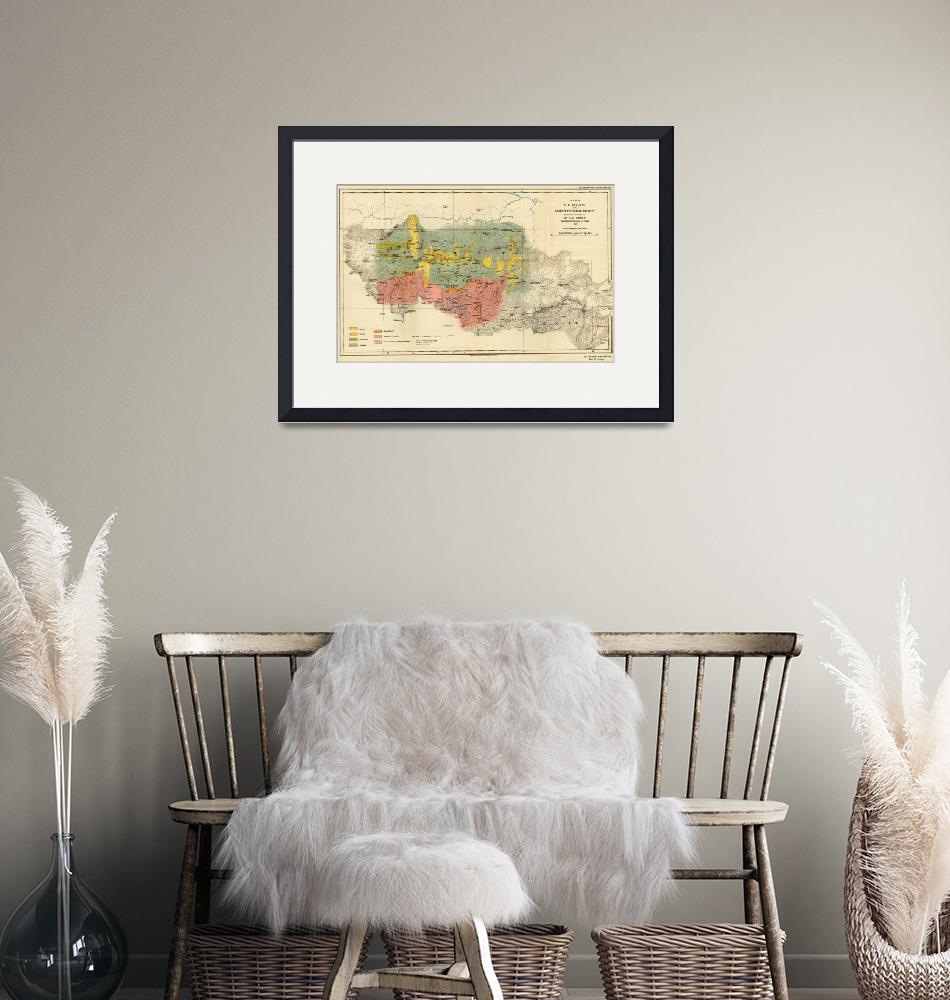 """""""Vintage Geological Map of The Mount Everest Region""""  by Alleycatshirts"""