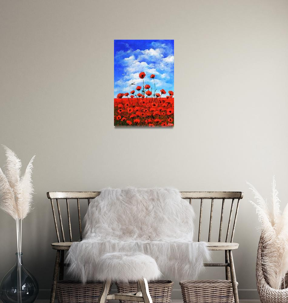 """""""Poppies  Larry Kip Hayes""""  (2014) by kiphayes"""