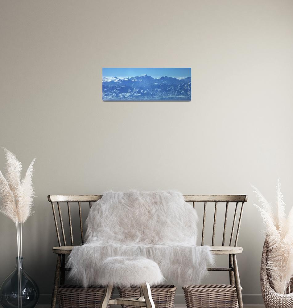 """Ismoil Somoni Peak Panorama Color 13""  (2006) by Liberando4Life"