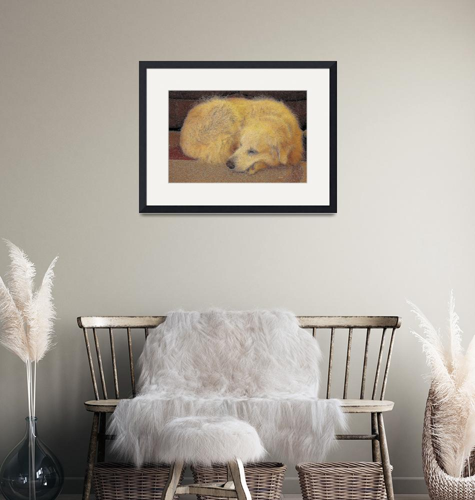 """""""Cozy, Dog Dreaming""""  (2010) by byStangz"""