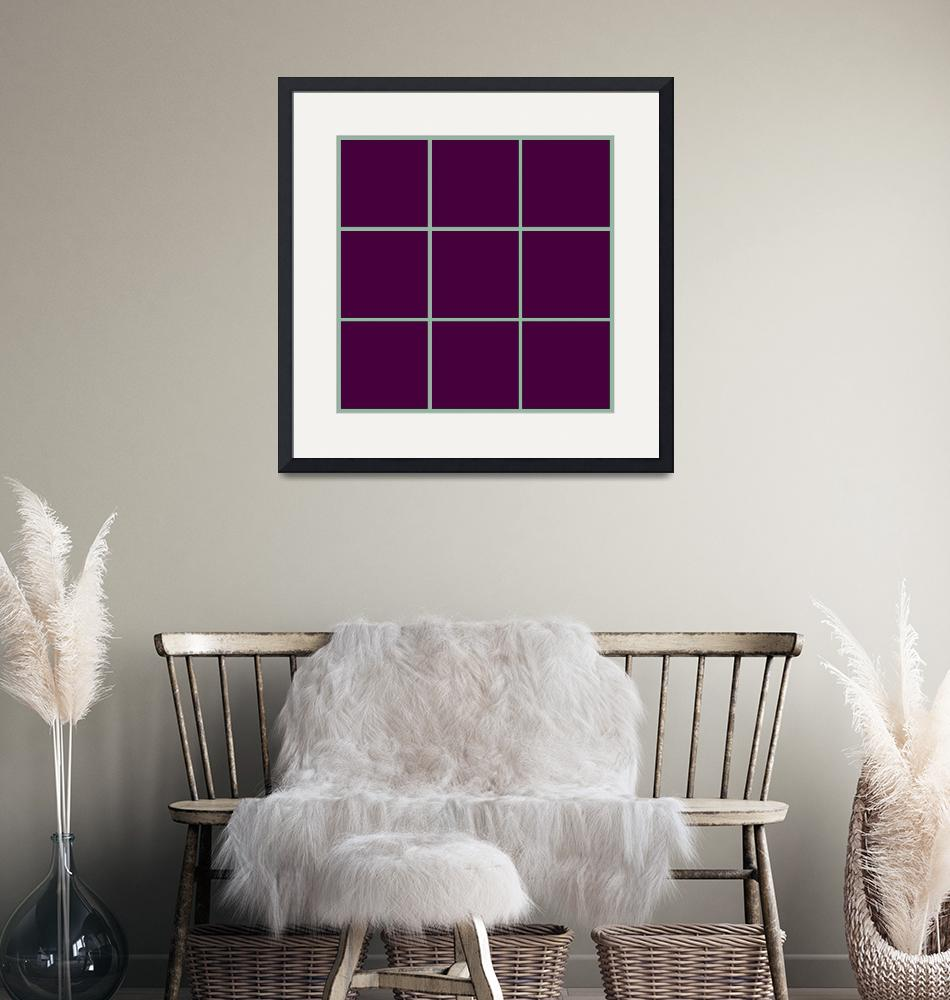 """Violet Window 191 Canvas Contemporary Modern""  (2010) by Ricardos"
