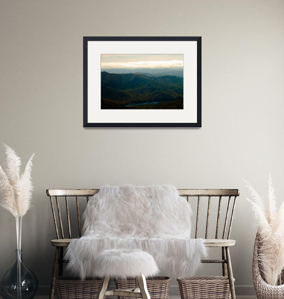 """""""Black Mountains and Swannanoa River""""  (2013) by ValeriesGallery"""