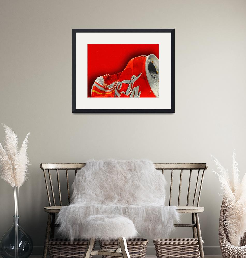 """""""Coca-Cola Can Crush Red"""" by RubinoFineArt"""