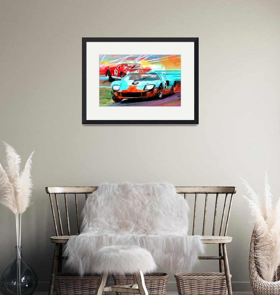 """""""FORD GT 40 LEADS THE PACK""""  (2014) by DavidLloydGlover"""