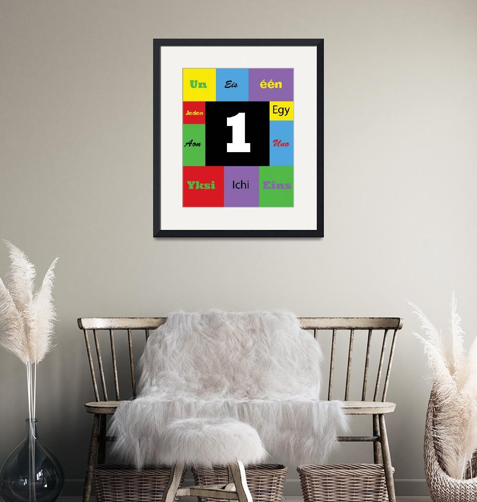 """""""Number One Colorful Many Languages"""" (2019) by ValeriesGallery"""