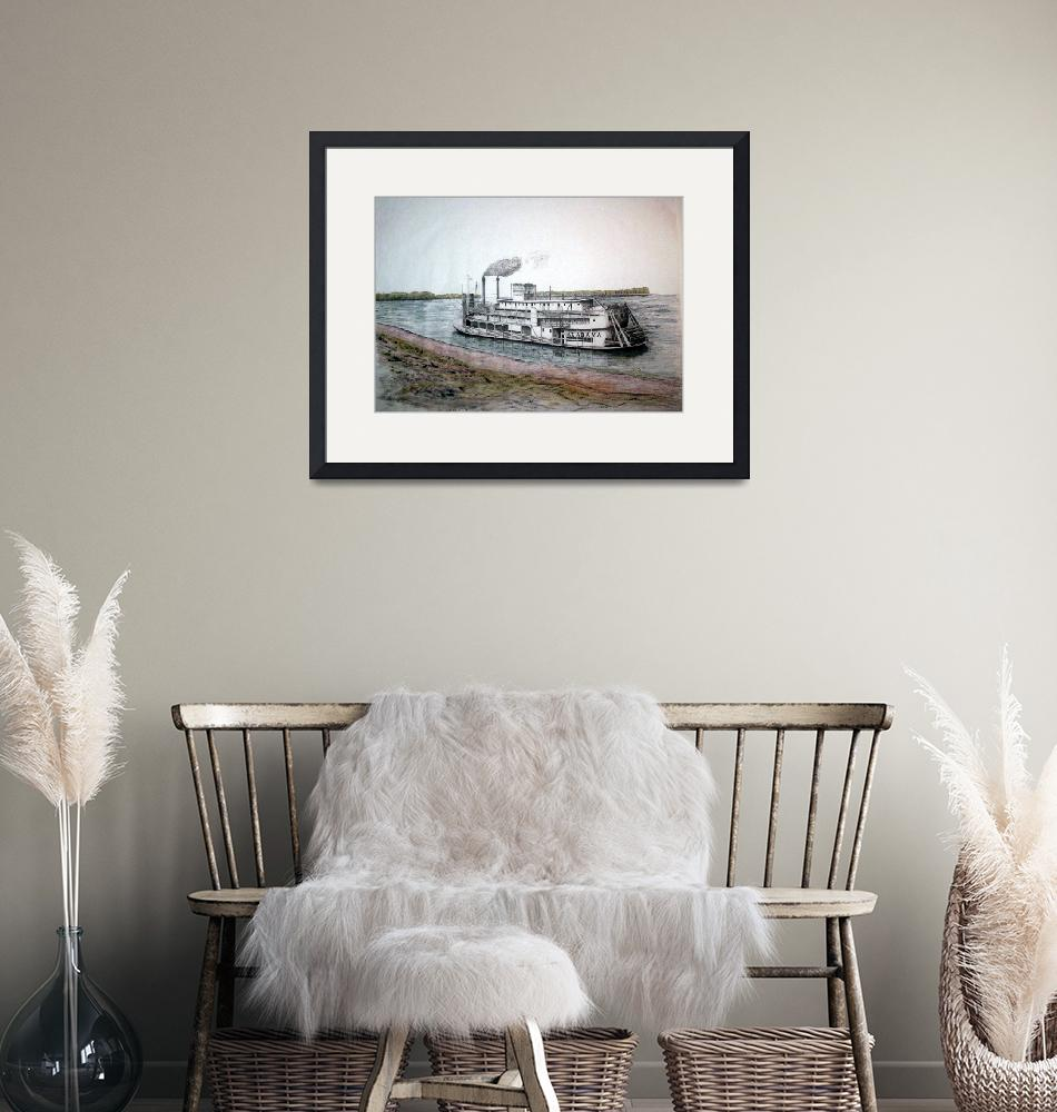 """""""Riverboat ALABAMA in colour""""  by RichardHall"""