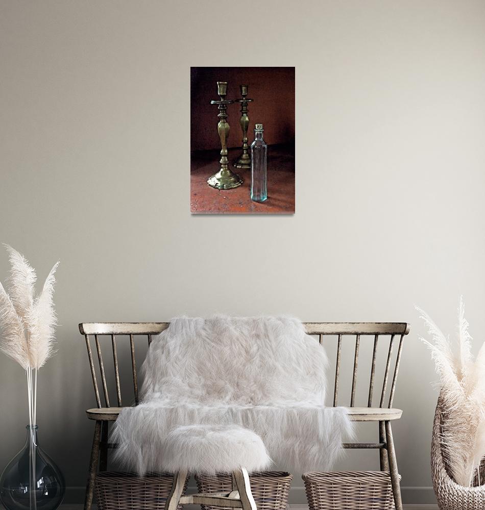"""Candlesticks & Glass v2""  (2011) by artinspires"