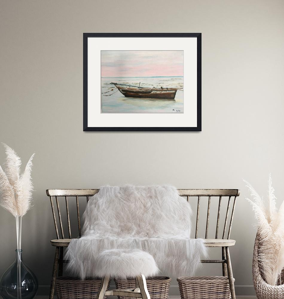 """""""Dhow on the beach"""" (2020) by rosamansell"""