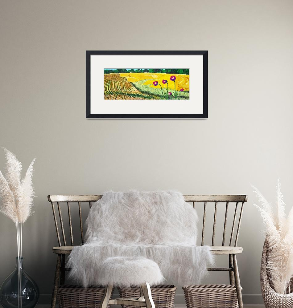 """wheatfield220120710ik""  (2012) by michaelandersonartprints"
