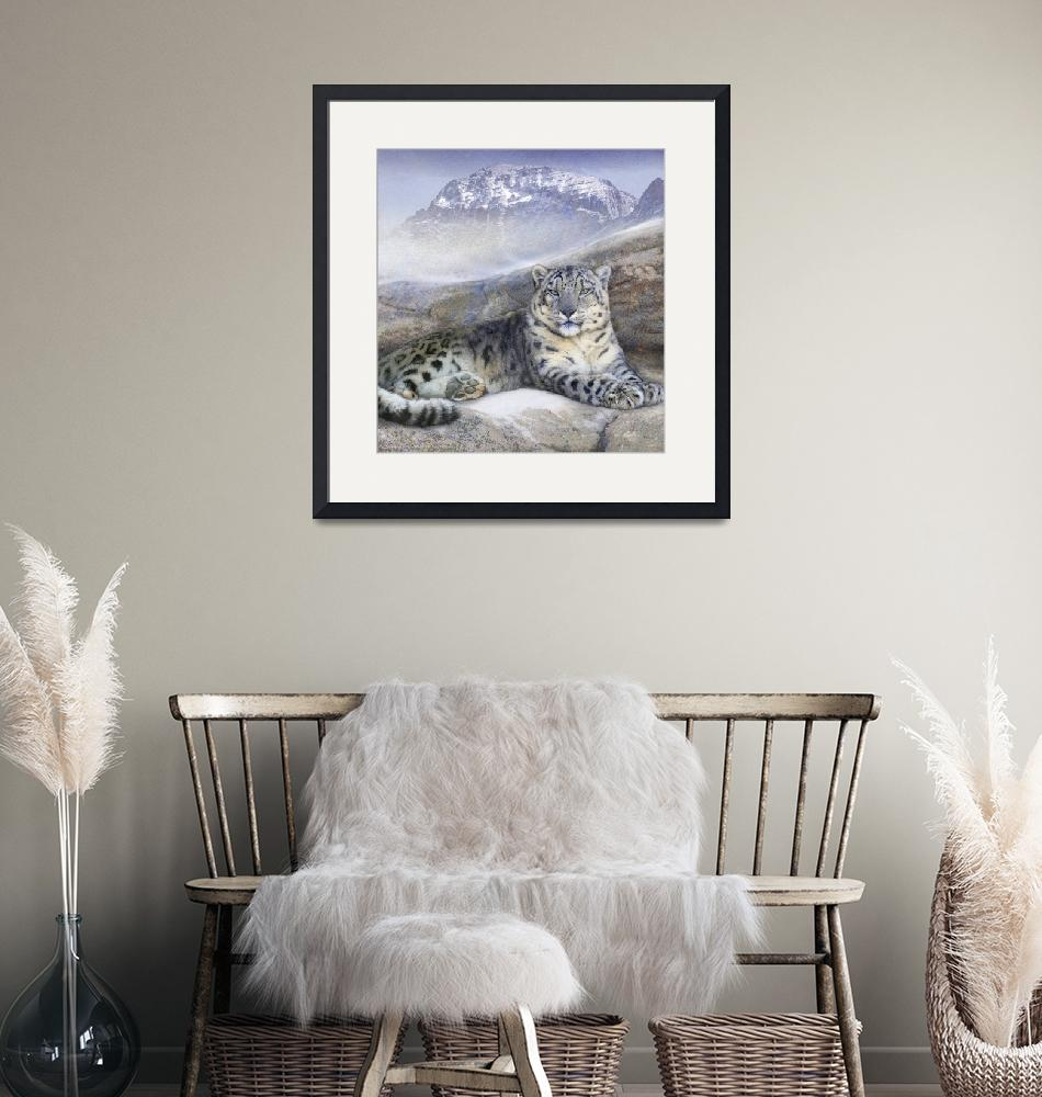 """""""out of the wind-- snow leopard""""  (2014) by rchristophervest"""