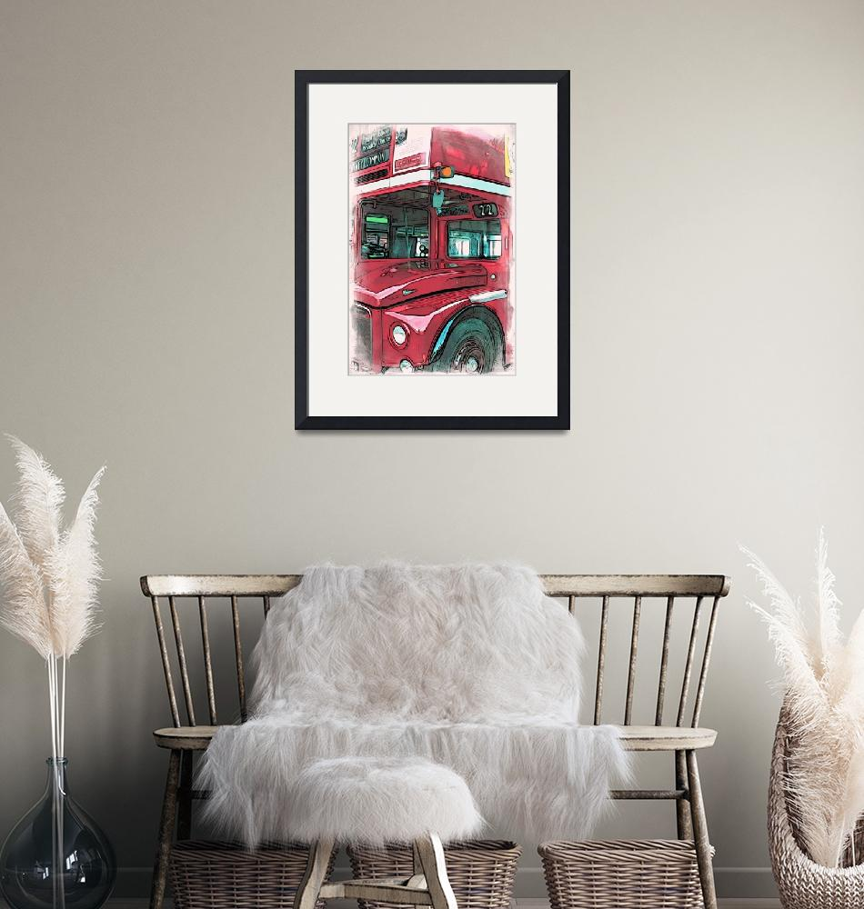 """""""Red Routemaster bus""""  (2014) by paulstevens"""